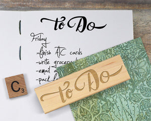 To Do Stamp, To Do List Planner Rubber Stamp