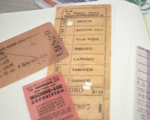 Vintage Ticket Ephemera Washi Stickers, Travel Stickers