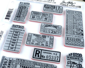 Vintage Ticket Stamps for Journaling Supplies - Tim Holtz Ticket Booth