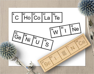 Periodic Table Word Stamps, Science Teacher Gift Stamp