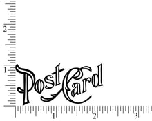 Vintage Postcard Rubber Stamp, Travel Stamp