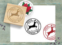 Christmas Seal Stamp, North Pole Express Christmas Postal Cancellation Stamp