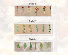 Large Pressed Flower Stickers, Botanical Stickers - Roses, Ferns, Sunflowers and Leaves