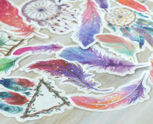 Feather Dream Catcher Washi Stickers 60 pcs