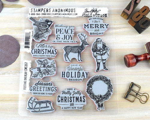 Vintage Holiday Christmas Cling Stamps