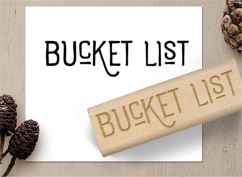 Bucket List Rubber Stamp