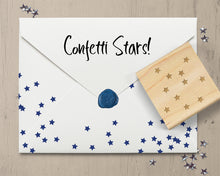 Confetti Stars Stamp, Tiny Stars Rubber Stamp