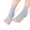 Image of Women's Five Toe Socks for Bunion Pain, Hammer Toe Relief, Barefoot Alternative for Yoga