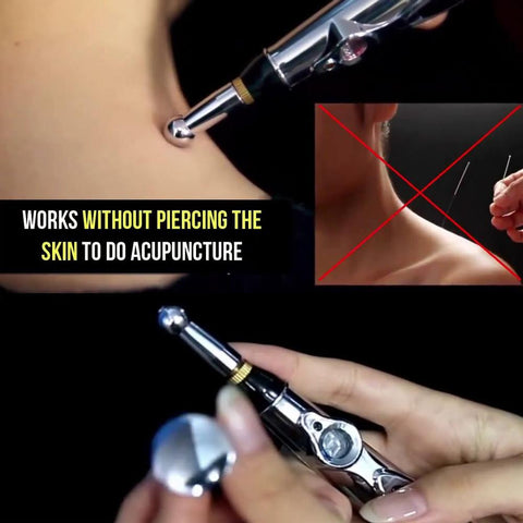 Electronic Battery Operated Needleless Acupuncture Pen for Pain Relief and Muscle Stimulation