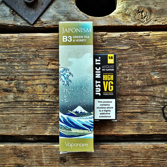 japonism b3 green tea honey vape juice eliquid