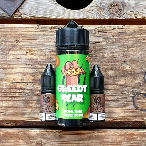 Greedy bear cookie cravings 100ml short fill free nic