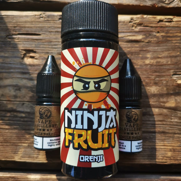 ninja fruit orenji 100mls free nic shot