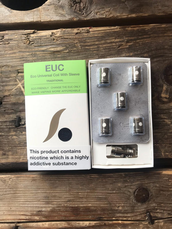 EUC 0.5 Ohm (with Adapter) coils Pack of 5 by Vaporesso