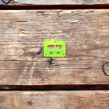 mums billet box rev4 faceplate neon green
