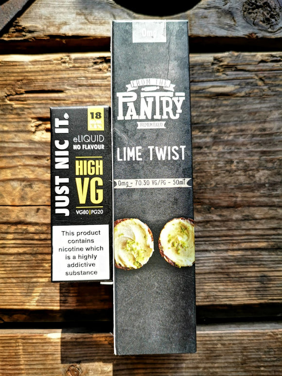the pantry lime twist 50ml short fill free nic shot