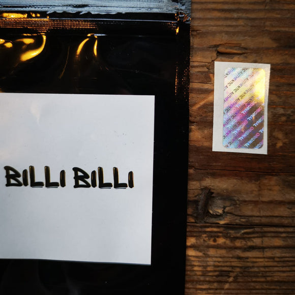 ORIGINAL AUTHENTIC HOLOGRAM STICKERS FOR BILLET BOX By BILLI BILLI