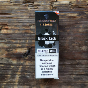 diamond mist black jack 20mg nic salt