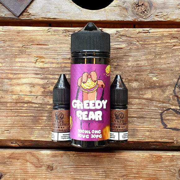 Greedy bear bloated blueberry 100ml short fill free nic shot