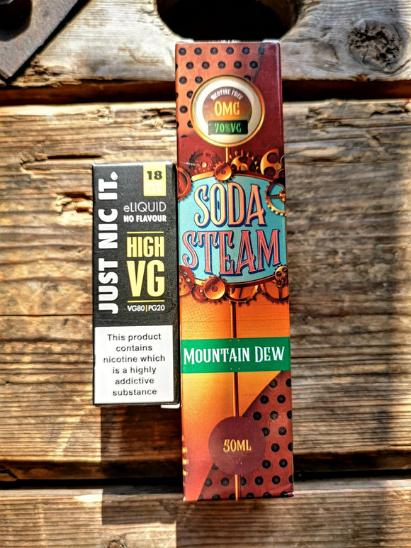 soda steam mountain dew 50ml short fill free nic shot