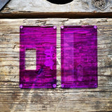 mums billet box rev4 mission switch flat doors hot purple