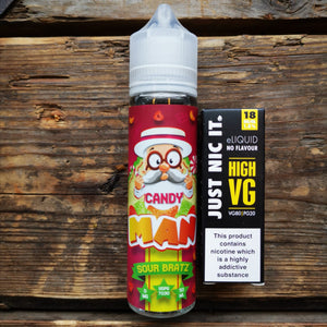 candy man sour bratz 50mls short fill free nic shot