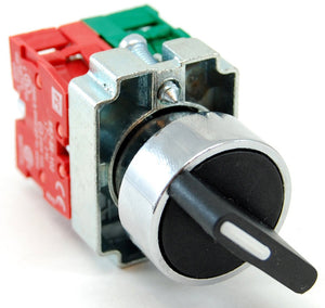 2 position maintained selector switch, 1 normally open (NO) contactor, 10A/240VAC