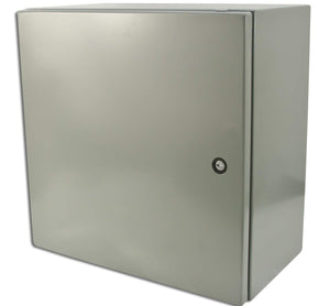 16x16x8 inch watertight steel box enclosure with a locking door