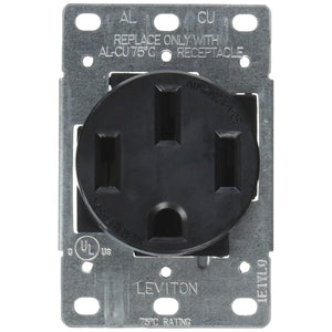 NEMA 14-50R (125/250VAC, 50A) 4 wire stove receptacle outlet