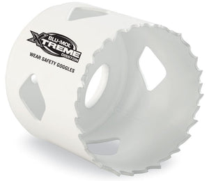 ~57mm (2-1/4 inch) bi-metal hole saw for making ~57mm (2-1/4 inch) diameter holes