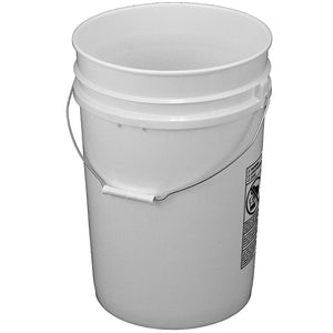 6 gallon 12 inch diameter plastic food grade bucket without lid