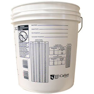 7.9 gallon plastic food grade fermentation bucket
