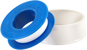 A roll of PTFE white teflon thread sealant tape