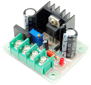 Adjustable DC power supply, 4-30V AC/DC input, 1.5-27V DC output