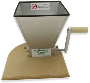 Barley-crusher grain mill with 7 pound hopper base crank handle