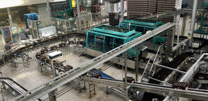 Westmalle brewery bottling line