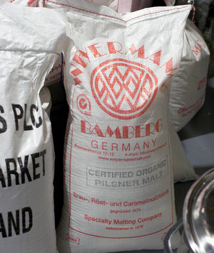 Weyermann Organic Pilsner Malt ready to be turned into beer