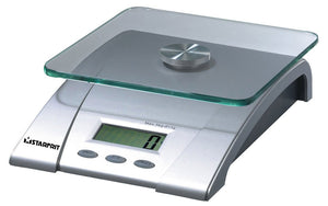 Digital kitchen scale with 1 gram (0.04 oz) resolution, 10+ lb capacity