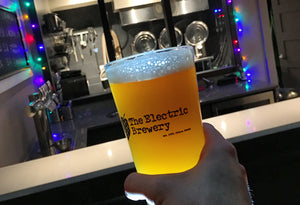 Electric Hop Candy is a hazy New England style IPA with a surprisingly soft and pillowy mouthfeel, full of juicy, fruit-forward hop flavours and aromas