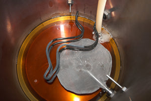 Sweet wort coming out from the bottom of the Mash / Lauter Tun is collected in the boil kettle
