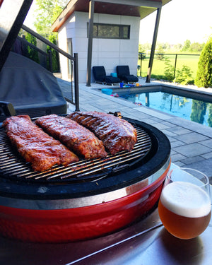 6 hour slow smoked ribs and Electric Pale Ale
