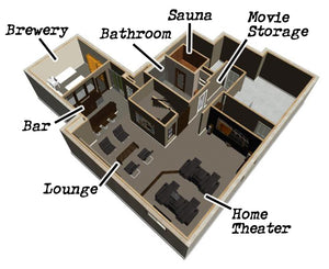 The Electric Brewery Basement floorplan