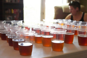 IPA samples were presented in small 6 oz plastic cups