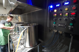 Brewing an experimental beer in The Electric Brewery