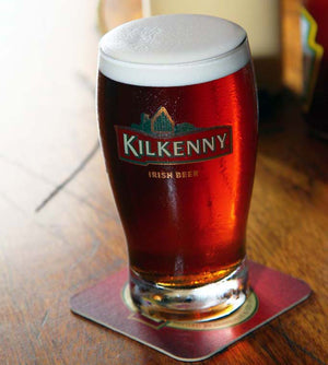 Kilkenny is of the world's most popular Irish Red Ales, shown served on CO2 / Nitrogen blend to get a nice creamy head and close to flat beer