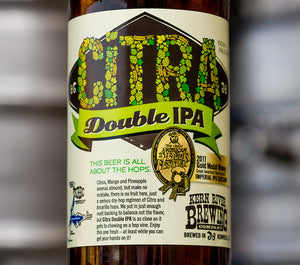Kern River Brewing Company Citra Double IPA label