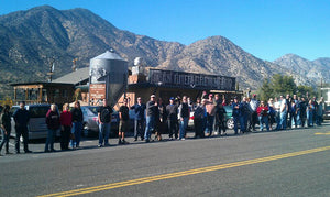 Lineup at Kern River Brewing Company in Nov 2011, shortly after winning gold at GABF