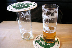 Kolsch stange glass and coasters