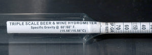 A hydrometer that is calibrated for taking readings in liquids at 60F
