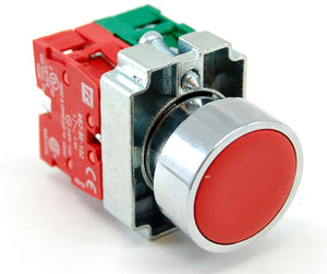 Momentary pushbutton, 1 normally open (NO) contactor, 1 normally closed (NC) contactor, 10A/240VAC