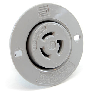 NEMA L5-15 (125VAC, 15A) twist lock electrical female receptacle